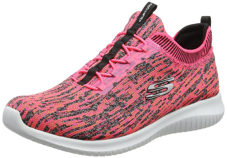 Skechers Women's Ultra Flex Bright Horizon Sneaker B01NBWNA2M 7 B(M) US|Pink/Black
