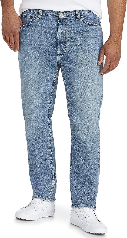 Essentials Mens Big /& Tall Tapered-fit Stretch Jean fit by DXL