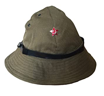 6404b2ba96d RUSSIAN MILITARY SOVIET USSR ARMY AFGHANISTAN UNIFORM HAT CAP KHAKI PANAMA  BADGE