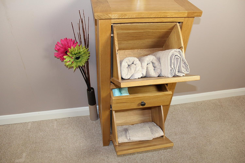 New Oak Shoe Storage Cupboard Linen Bathroom Bedroom Hallway Conservatory