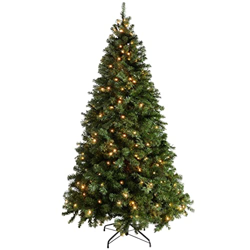 Artificial Christmas Trees Amazon Uk: 7 Ft Pre Lit Christmas Tree: Amazon.co.uk