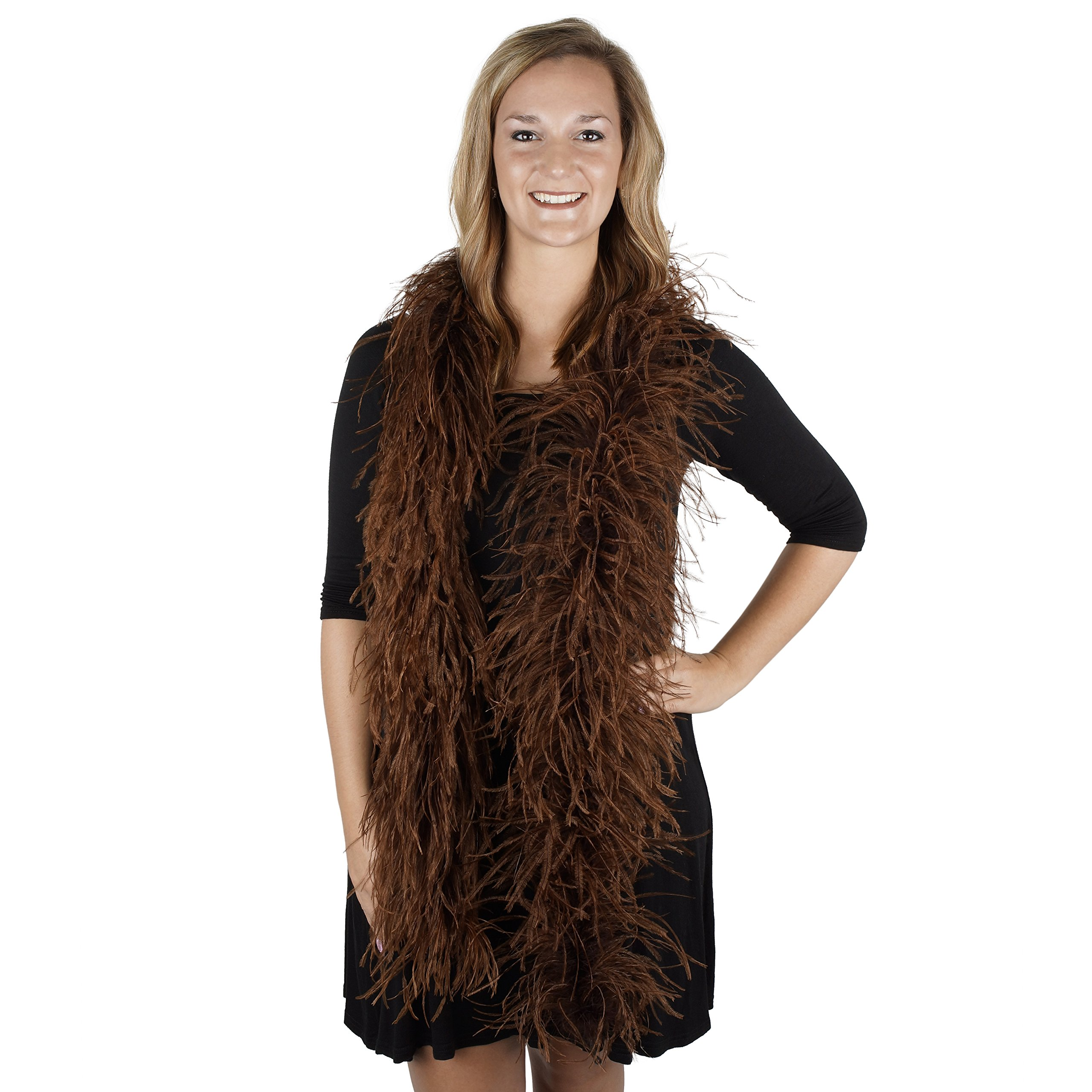 Zucker Feather Products Ostrich 2-Ply Boa for Decoration, Brown