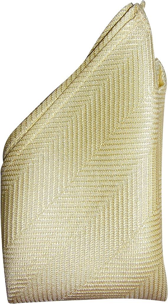 "Full-Sized 16/""x16/"" Off White Herringbone Silk Pocket Square by ROYAL SILK"