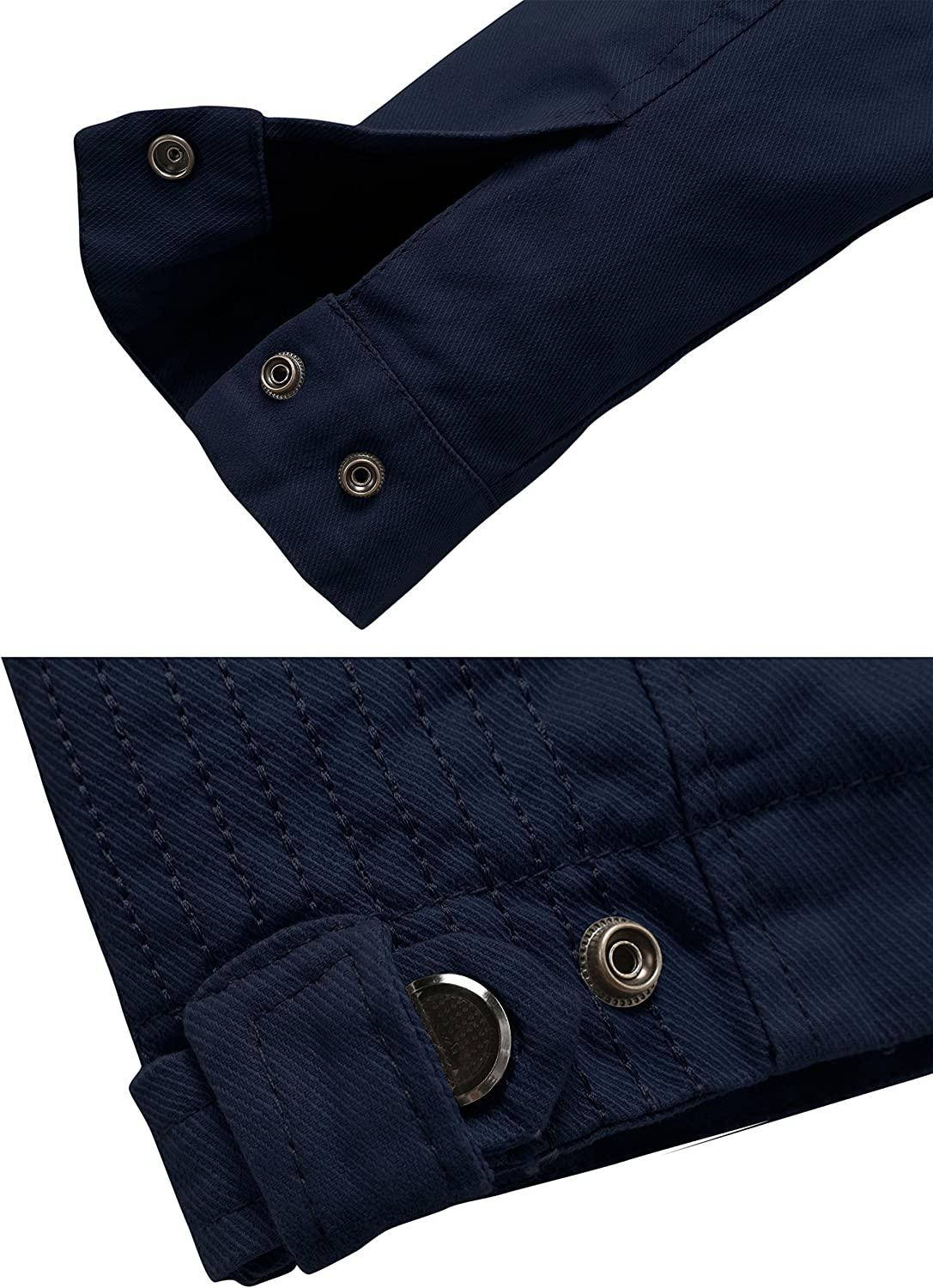 Wantdo Mens Slim Fit Cotton Casual Jacket
