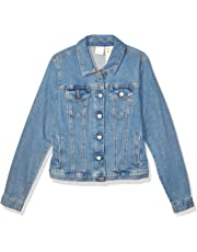 TOMMY HILFIGER Womens Adaptive Jean Jacket with Magnetic Buttons Denim Jacket - Blue - Small