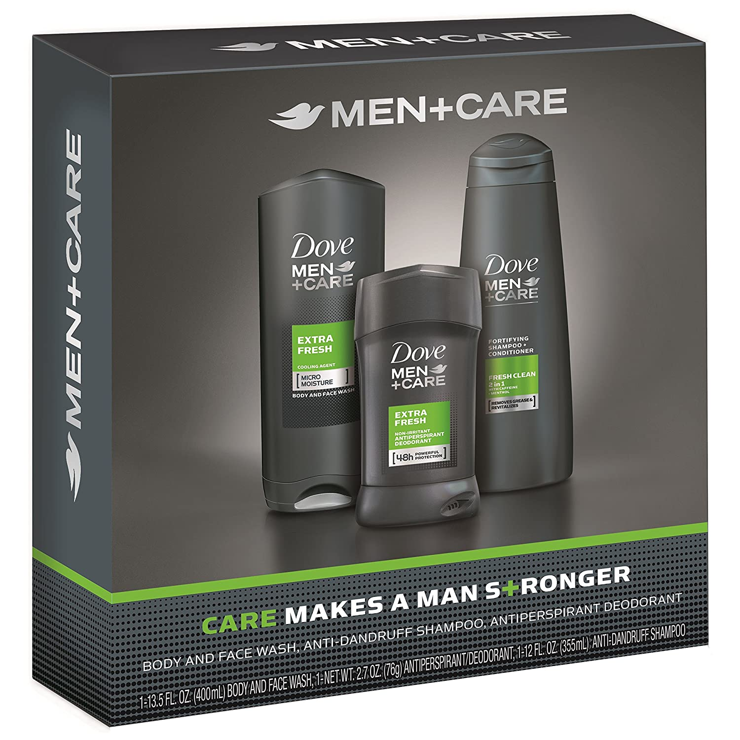 Dove Men+Care Hygiene Kit, Extra Fresh 3 ct Unilever 10079400394993