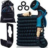 SPRINGLE Flexible Garden Hose 50ft - Expandable and Retractable with 9 Spray Pattern, Lightweight and Collapsible Kink…