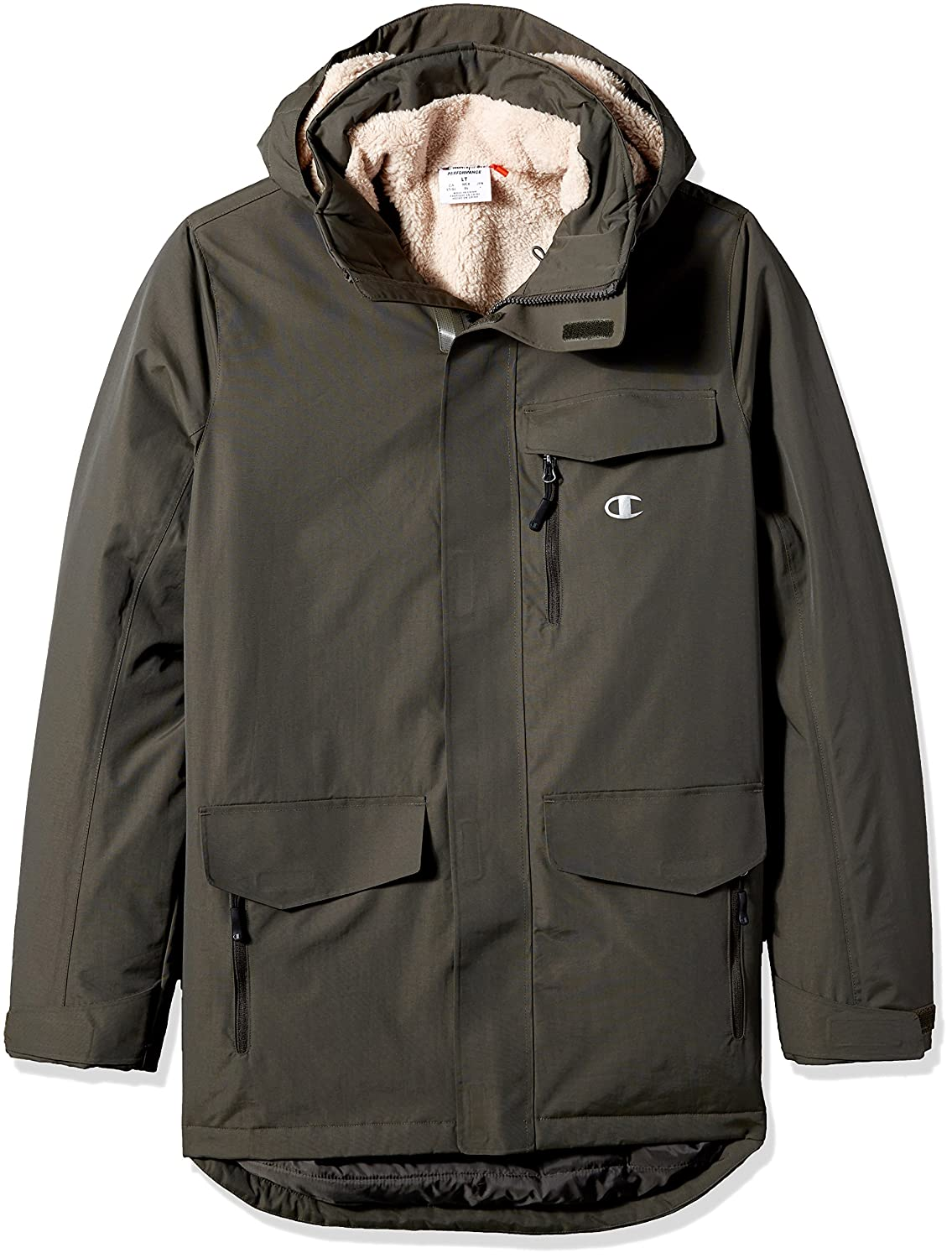 Champion Men's High Performance Jacket with Sherpa Lining - Tall Sizes Champion Mens Outerwear CH4006PPT