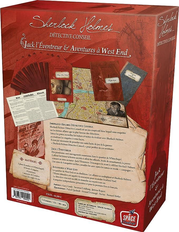 Asmodee – scshjw01fr – Sherlock Holmes Jack L éventreur – Aventuras de West End: Amazon.es: Juguetes y juegos