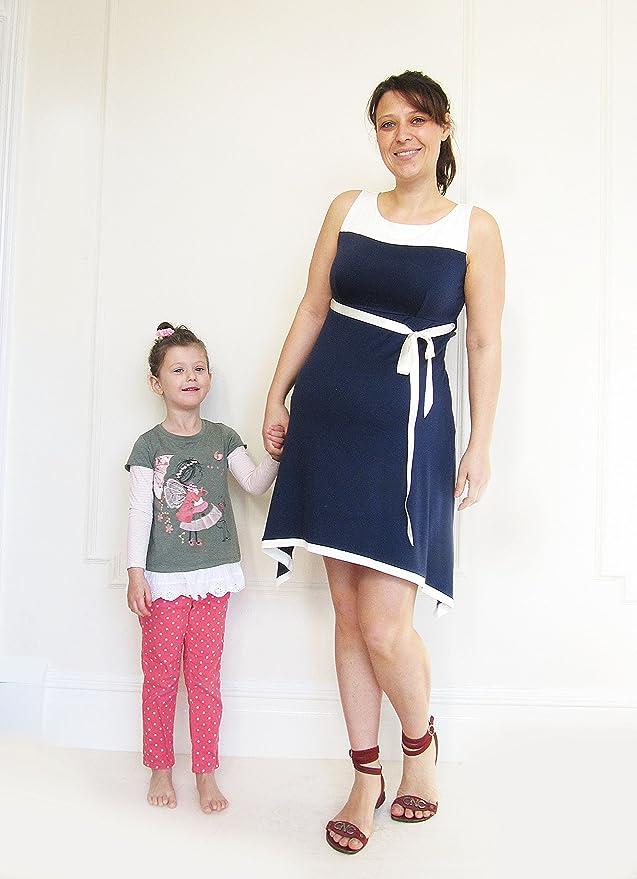 Maternidad Verano Vestido de Azul Marino, Algodón, longitud de Midi para vestidos de maternidad vestido premamá, ducha Party Dress negro azul oscuro ...
