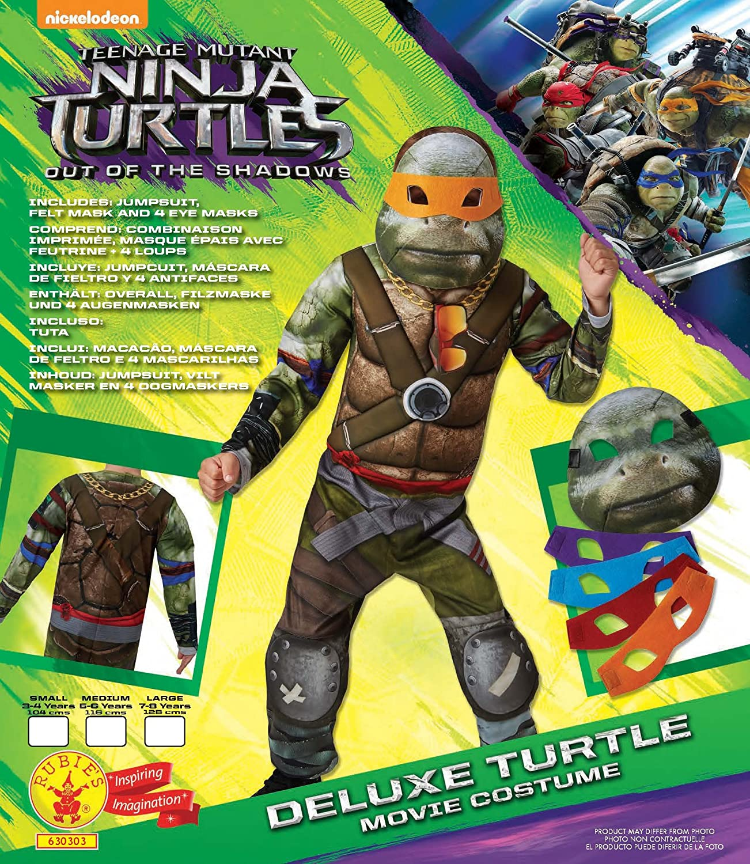 Disfraz infantil de Las tortugas ninja 2, de Rubies ...