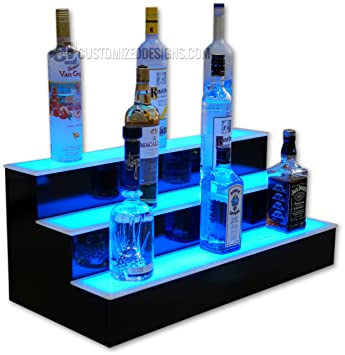 back bar lighting. 30u0026quot 3 tier led lighted back bar shelving with lighting v