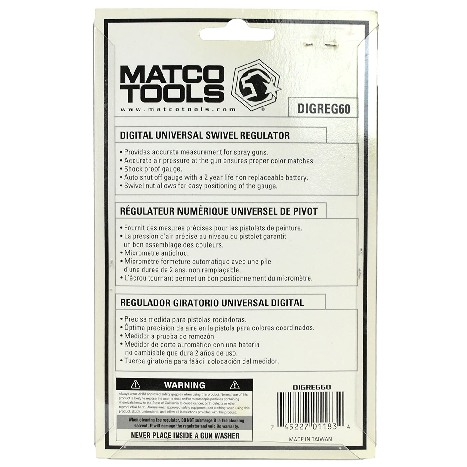 Amazon.com : Matco Tools DIGREG60 Digital Universal Swivel Regulator : Sports & Outdoors