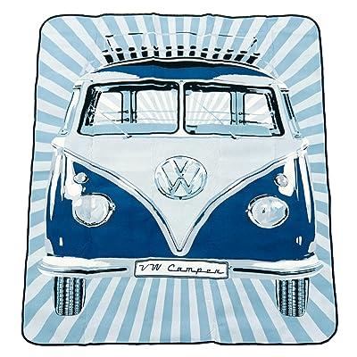 Brisa BUPB02 Couverture de Pique-Nique VW Combi Samba Stripes, Bleu