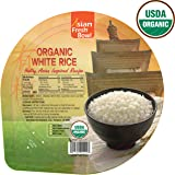Microwaveable Organic Steamed White Instant Rice, Asian Fresh Bowl, 7.2oz, Non GMO No Preservatives Gluten Free BPA Free - 6 Pack