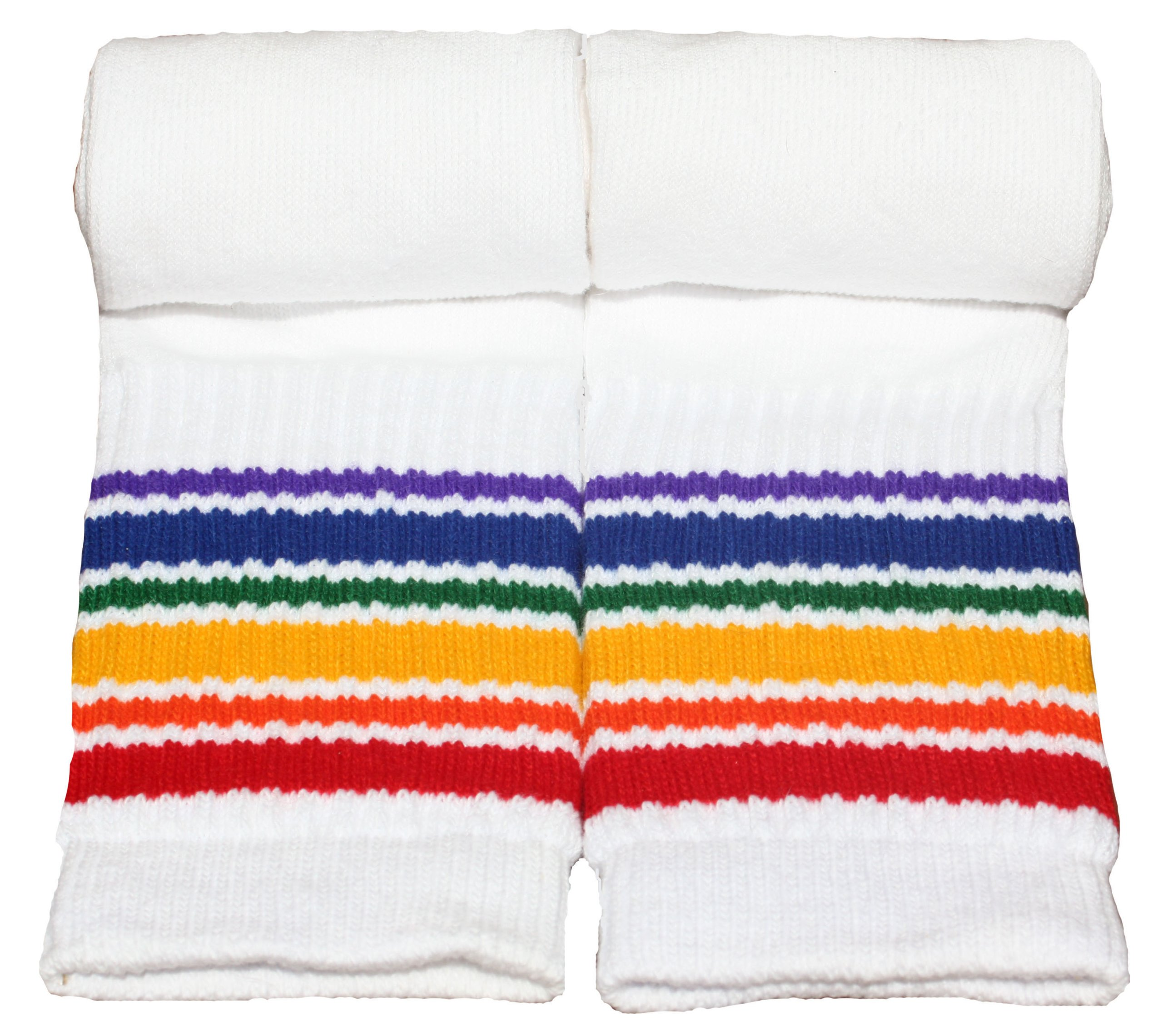 Pride Socks Kids Rainbow Striped Tube Socks T1-14