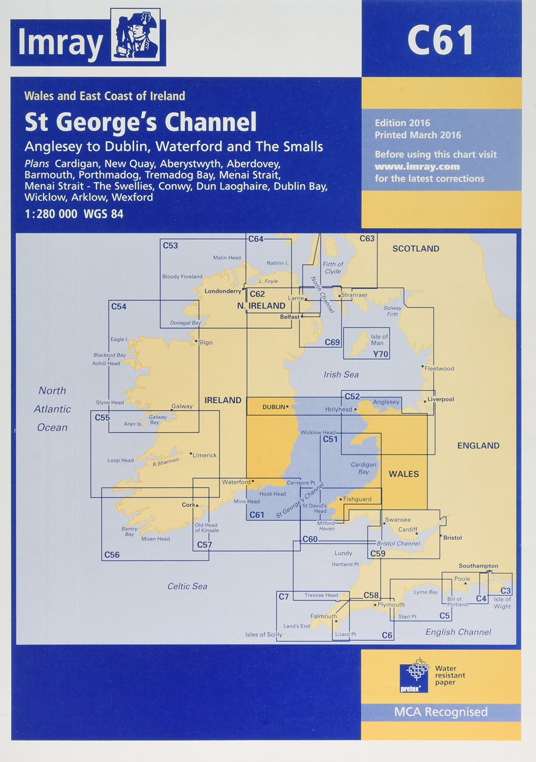 Imray Chart C61: St George's Channel - Anglesey to Dublin, Waterford and the Smalls ebook