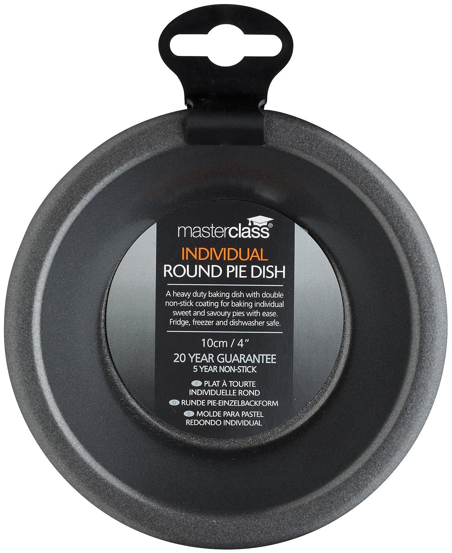 Amazon.com: Masterclass Non-stick Round Small Individual Pie Dish, 10cm (4