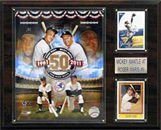 product image for MLB New York Yankees Mickey Mantle/Roger Maris Player Plaque
