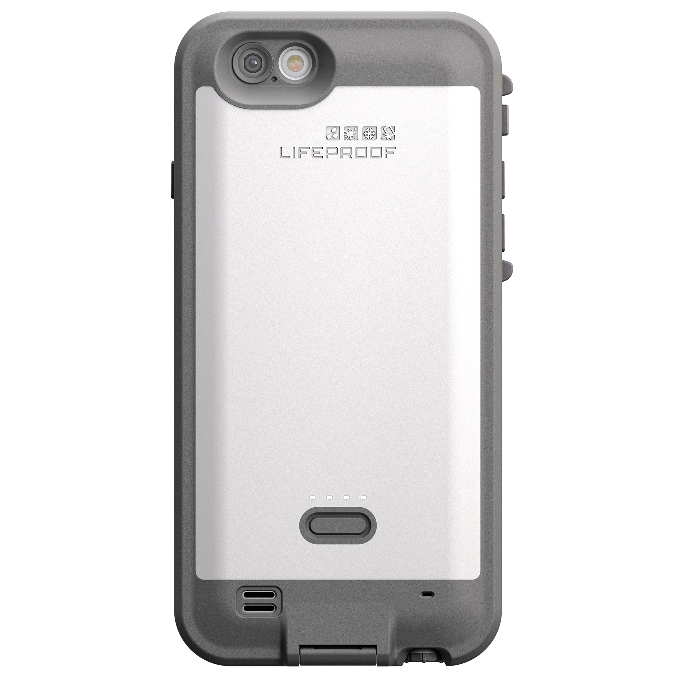LifeProof FRE POWER iPhone 6 ONLY (4.7'' Version) Waterproof Battery Case - Retail Packaging - (BRIGHT WHITE/COOL GREY) (Discontinued by Manufacturer)