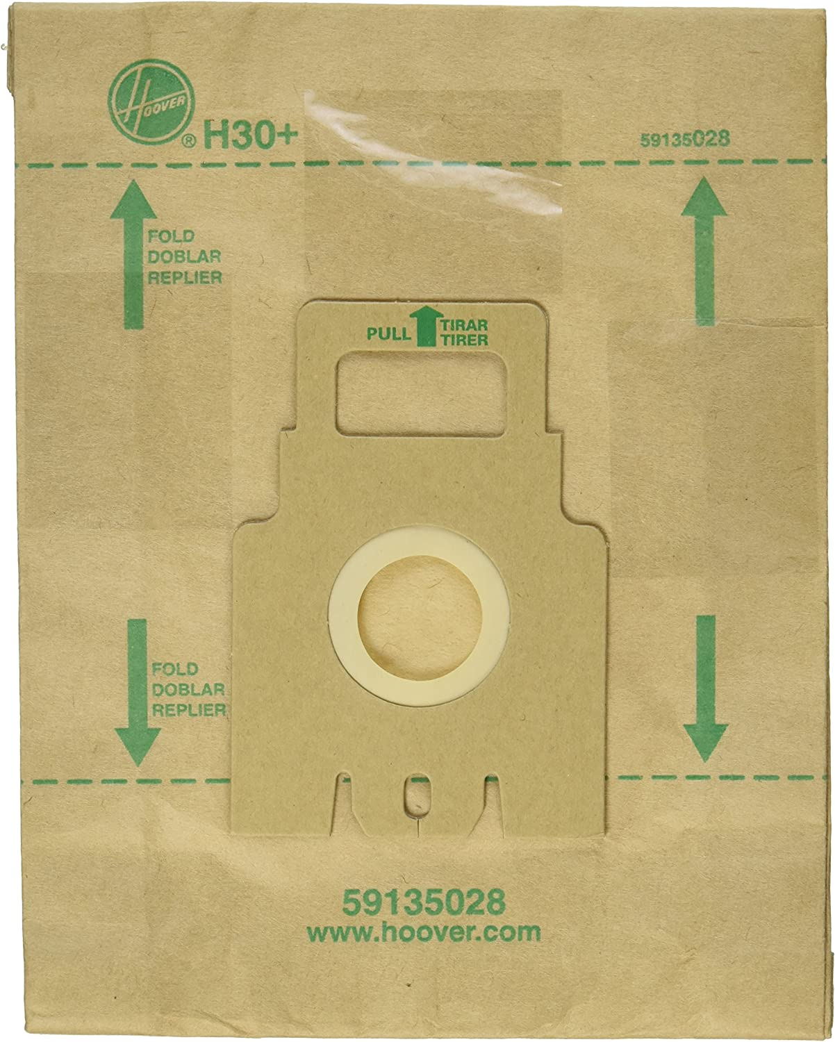 Hoover Paper Bag, H-30 with 1 Secondary 2 Final Filters (Pack of 5)