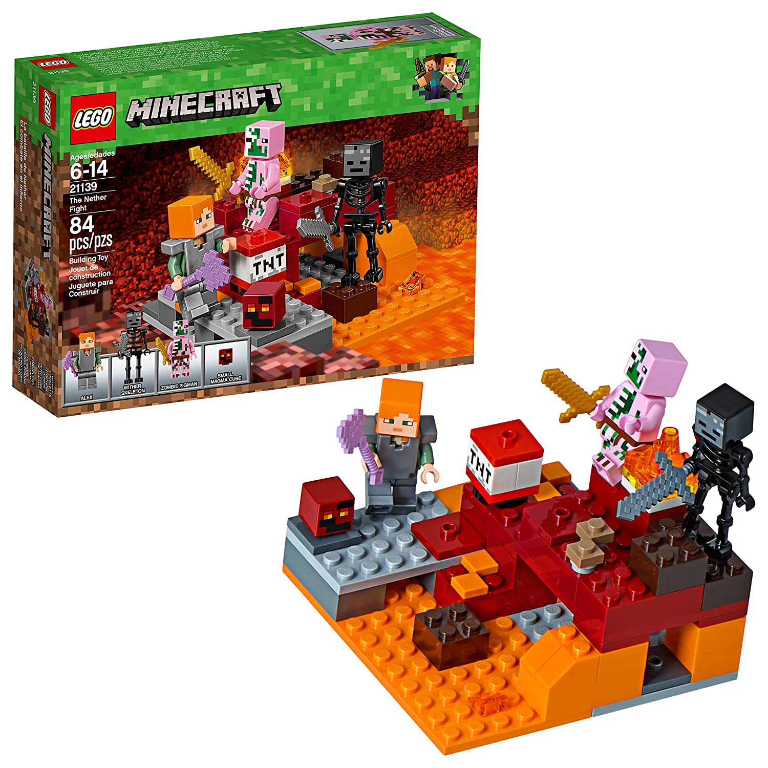 Lego Minecraft The Nether Fight 21139 Building Kit (84 Piece) 6212347