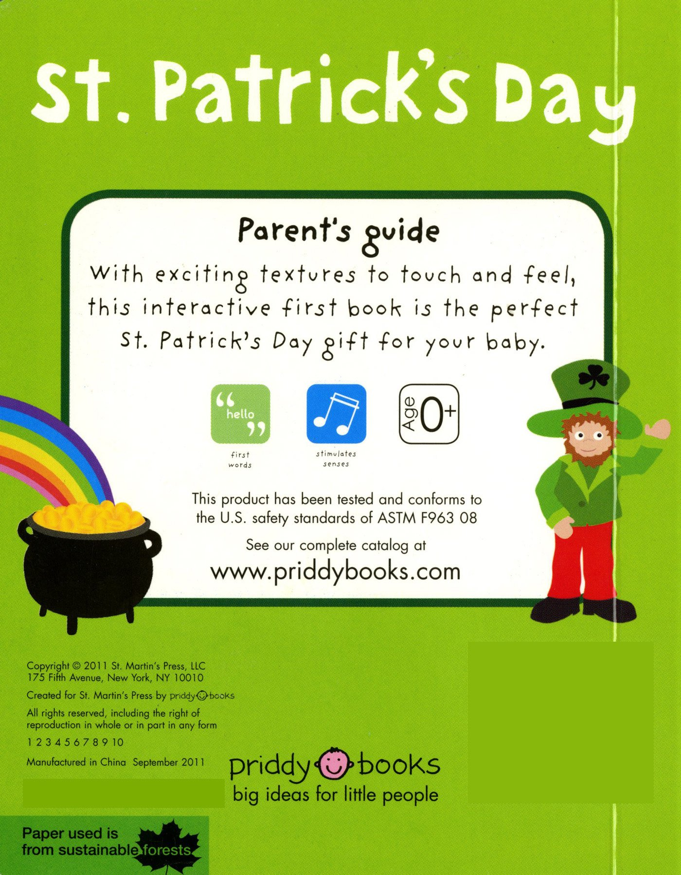 Amazoncom St Patricks Day Bright Baby Touch And Feel