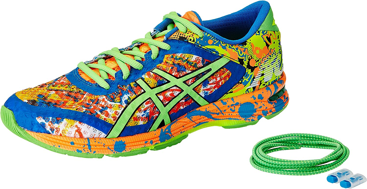 ASICS Mens Gel-Noosa Tri 11 Hot Orange, Green Gecko and Electric Blue Running Shoes - 7 UK/India (41.5 EU)(8 US): Amazon.es: Zapatos y complementos