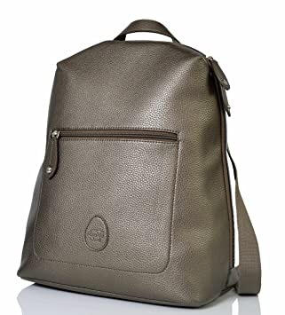 dc4862a8690ad PacaPod Hartland Gunmetal Designer Baby Changing Bag - Luxury Faux Leather  Backpack 3 in 1 Organising