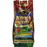 Kona Hawaiian Gold  Kona Coffee, Gourmet Blend Ground Coffee, 10 Ounce