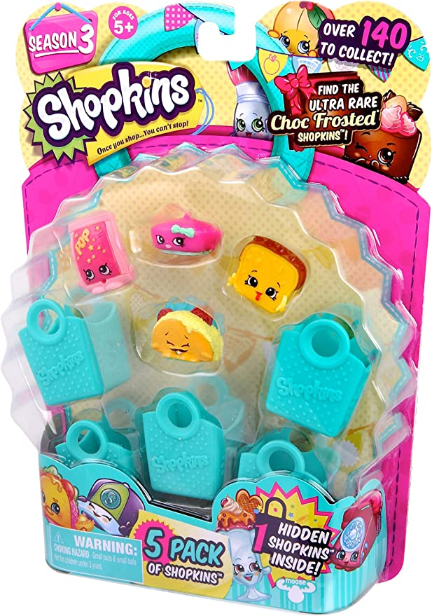 Amazon Com Shopkins Season 3 5 Pack Characters May Vary Discontinued By Manufacturer Toys Games