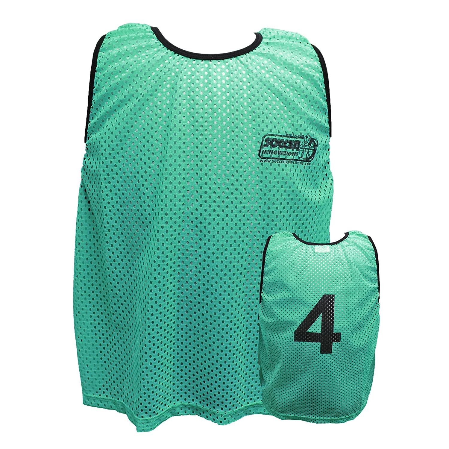 Soccer Innovations大人用1 – 18 Numbered Scrimmage Vest B01LW86RQFグリーン