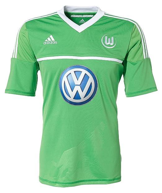 Adidas vfl wolfsburg heim / - Camiseta de fútbol sala para hombre, tamaño XL, color verde: Amazon.es: Deportes y aire libre