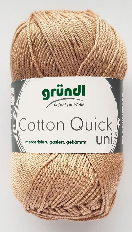 Cotton Quick Gründl Wolle 100  % Baumwolle 50 g Farbe 01 Grundl 865-01 726c454ae6