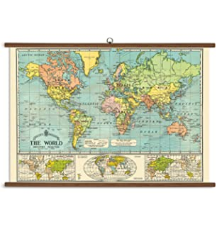 Amazon cavallini papers stanfords world map vintage style cavallini papers world map vintage school chart gumiabroncs Gallery
