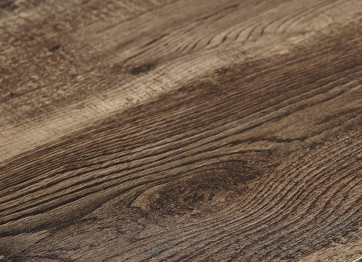Marque Amazon -Movian Rouen - Bureau d'angle, 152,4x120x75,3cm, Finition chêne sombre vintage
