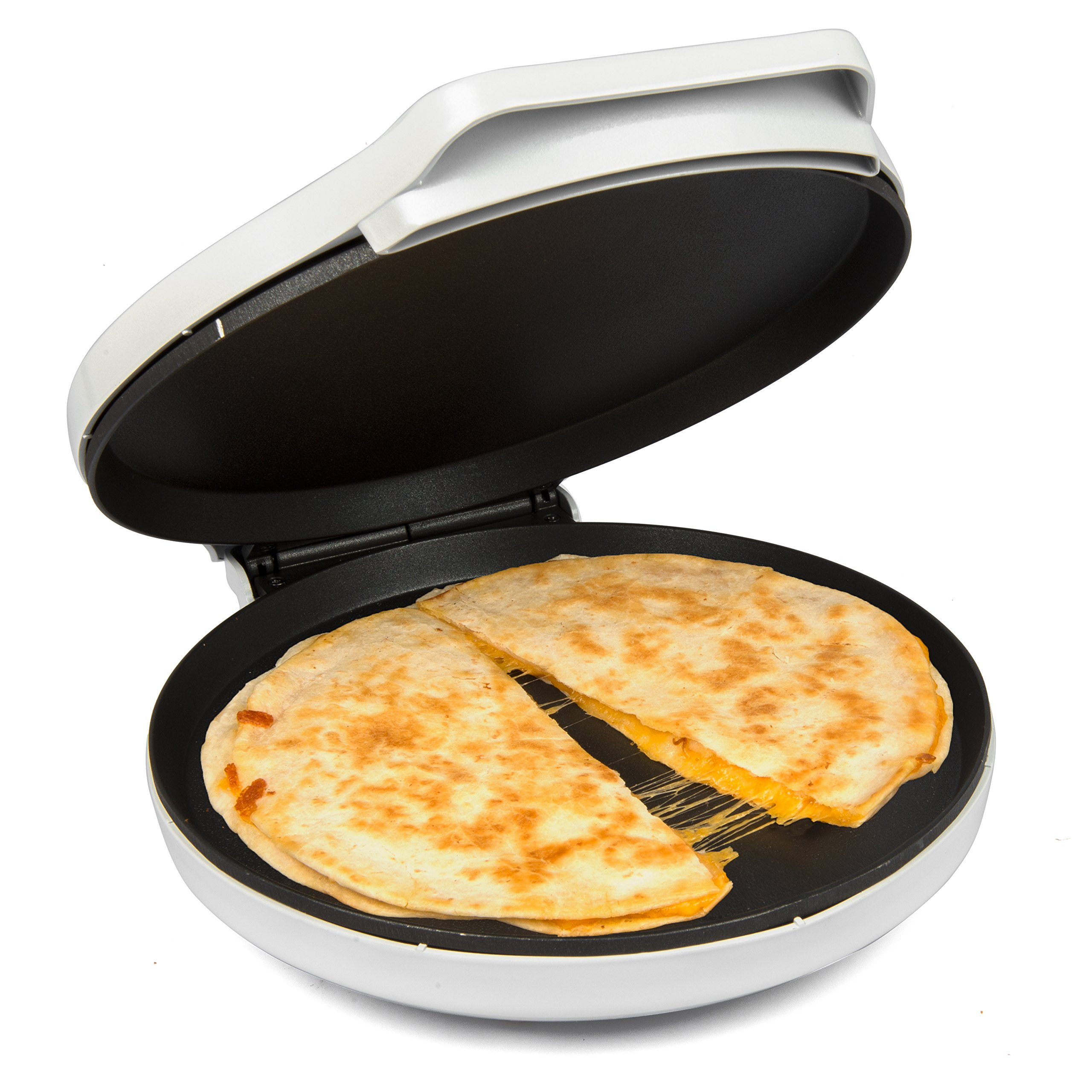 CucinaPro Pizza Maker and Everyday Baker - Electric Griddle Grill Pan Heats and Reheats in less than 2 minutes, White by CucinaPro (Image #2)