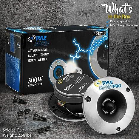 Pyle Pro Pdbt18 300w Bullet Horn Tweeter Pair Musical Instruments