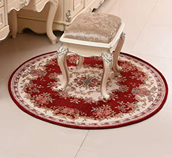 Amazon Com Ustide Country Style Cotton Round Area Rugs 35 4 Inch