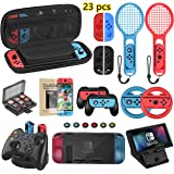 Welwel Accessories Bundle Compatible with Nintendo Switch, Accessories Kit with Carrying Case, 5 Angles Bracket…