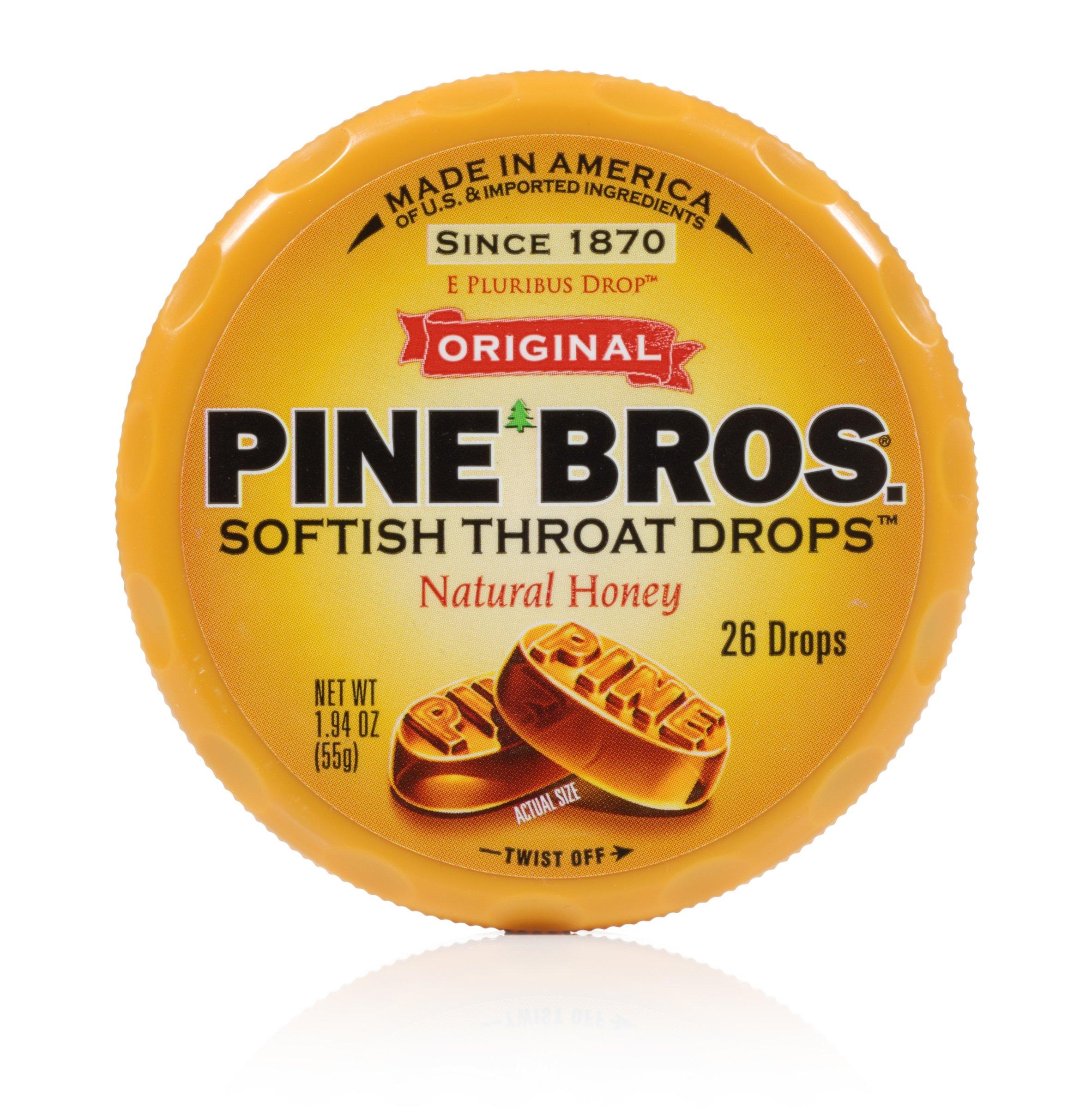 Pine Bros Throat Drops Puck, Natural Honey, 26 Count (Pack of 72)