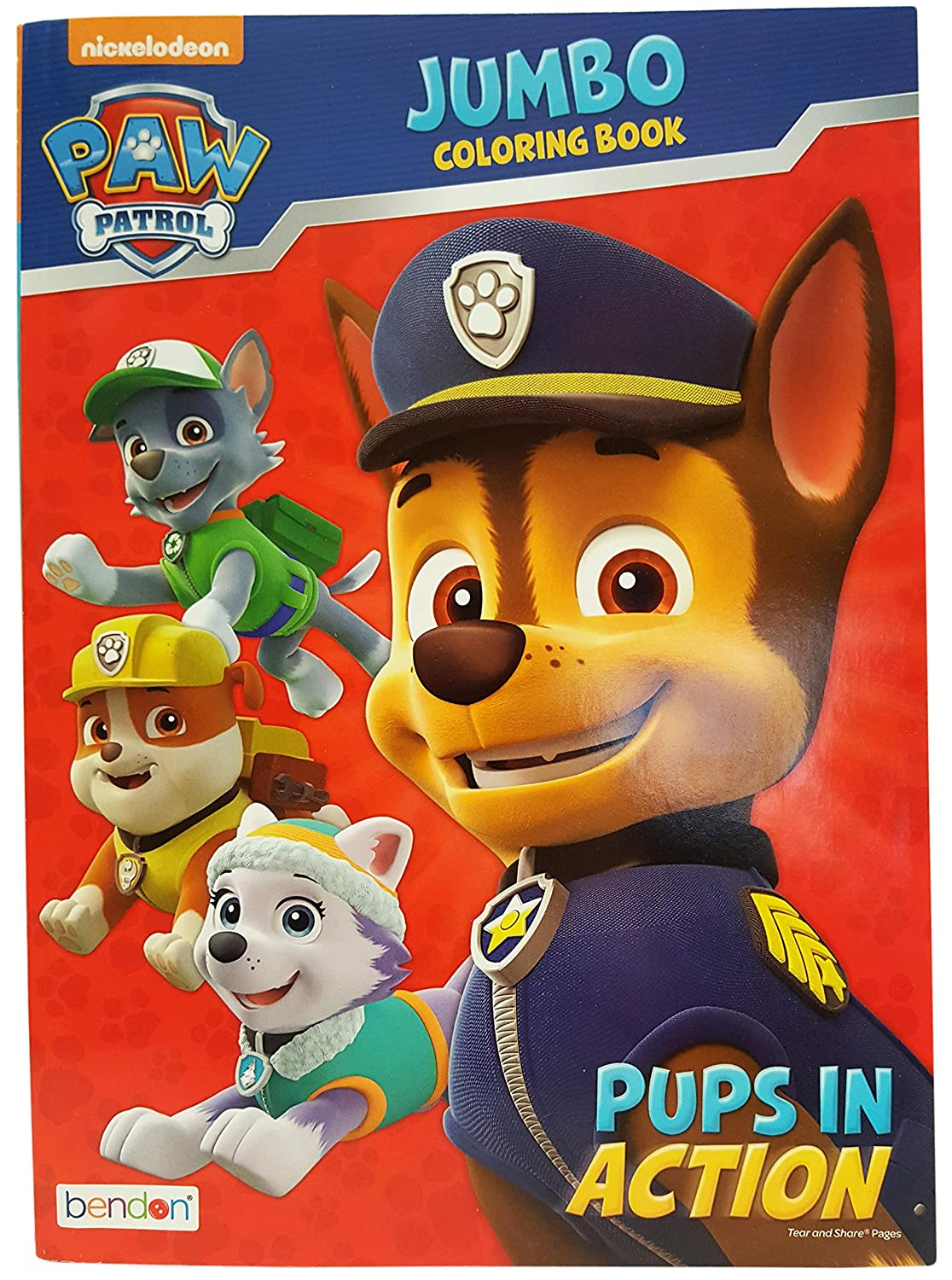 amazoncom set of 2 nickelodeon paw patrol pups in action jumbo coloring book tear and share pages coloring and activity book perfect for any paw - Nickelodeon Coloring Book