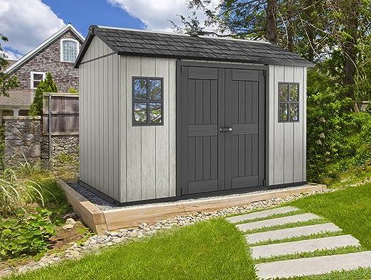 Keter - Caseta de jardín exterior Oakland 1175 SD. Color gris: Amazon.es: Jardín