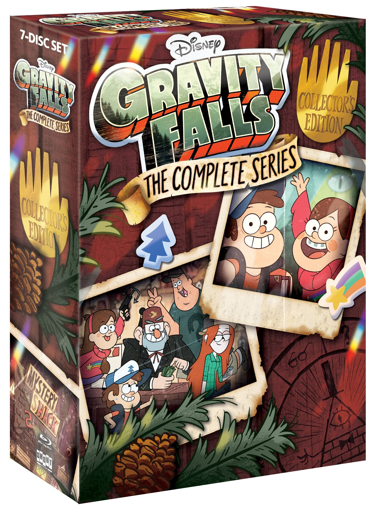 Blu-ray : Gravity Falls: The Complete Series (Collector's Edition, Widescreen, Dubbed, 7PC)