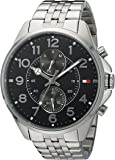 Tommy Hilfiger de los hombres Cuarzo Acero Inoxidable Reloj Casual, Color: silver-toned (Modelo: 1791276)