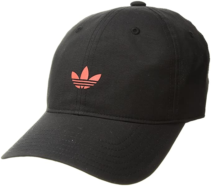 54a6952e adidas Men's Originals Modern Relaxed Adjustable Strapback Cap, BLACK/REAL  CORAL, One Size