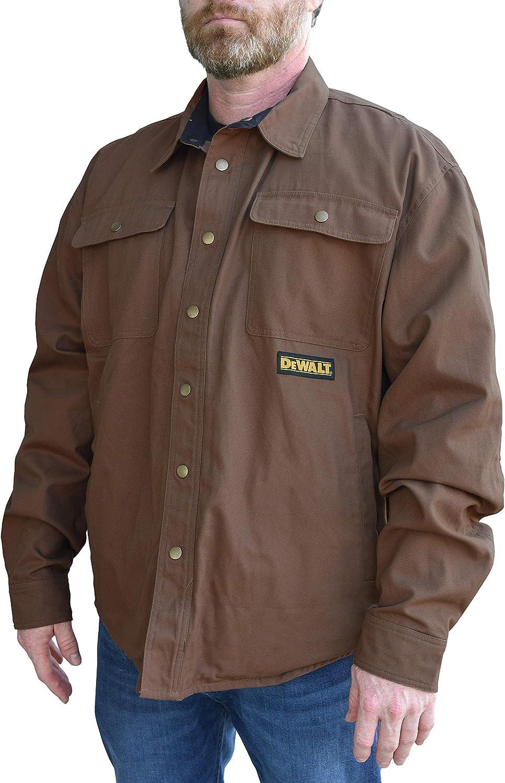 L Tobacco Radians DEWALT DCHJ081TD1-L Heated Heavy Duty Shirt Jacket