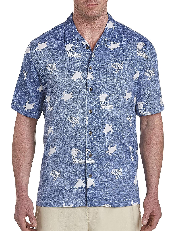 Island Passport by DXL Big and Tall Turtle Print Sport Shirt