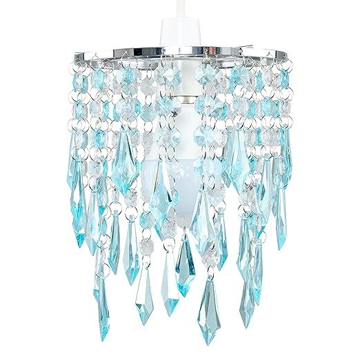 Minisun elegant chandelier design ceiling pendant light shade with minisun elegant chandelier design ceiling pendant light shade with beautiful teal and clear acrylic jewel aloadofball Choice Image