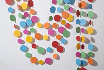 Amazon Paper Garland Multicolored Circles Garland Easter